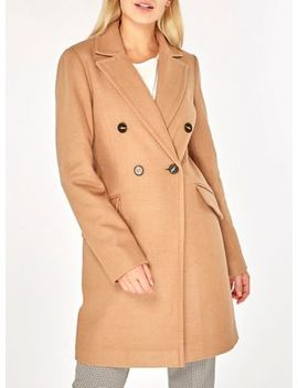 Dorothy Perkins   Camel Double Breasted Pea Coat by Dorothy Perkins