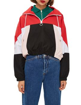 Overhead Colorblock Windbreaker Jacket by Topshop