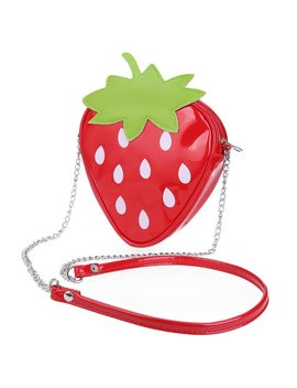 Strawberry Shoulder Messenger Packet Phone Purse Stereotypes Chain Bag Sweet ! Princess Sweet Lolita Shoulder Bag  by Challen