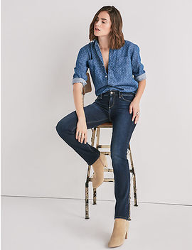 Ava Mid Rise Straight Jean by Lucky Brand