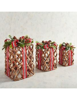 Natural Woven Gift Boxes Set by Pier1 Imports