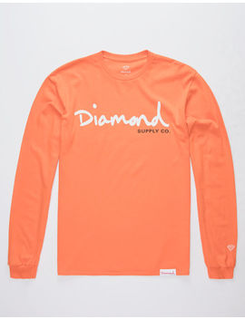 Diamond Supply Co. Og Script Orange Mens T Shirt by Diamond Supply Co.