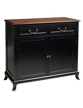 Rubbed Black Buffet Table by Marchella Collection
