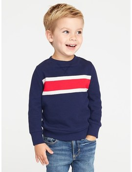 French Rib Chest Stripe Pullover For Toddler Boys by Old Navy