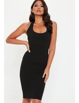 Black Halterneck Midi Dress by Missguided