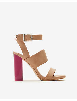 Color Block Heel Sandals by Express