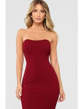 Save Me A Dance Dress   Dark Red by Fashion Nova