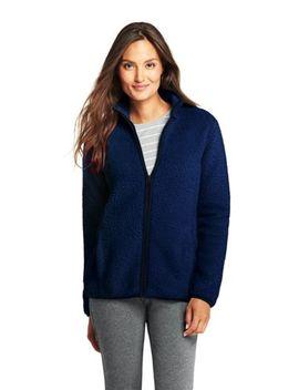 Women's Cozy Sherpa Fleece Jacket by Lands' End