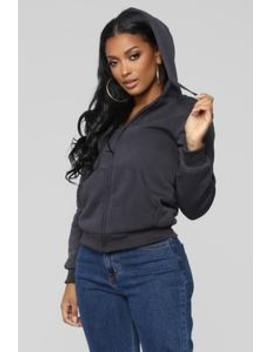 Cozy As You Can Be Lounge Hoodie   Charcoal by Fashion Nova