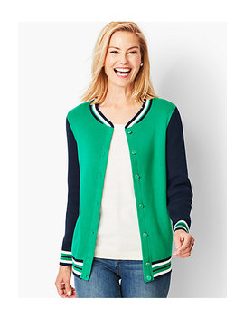Bomber Style Cardigan Sweater by Talbots
