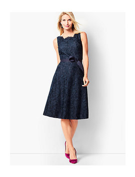 Scallop Edge Fit & Flare Dress by Talbots