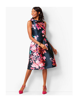 Autumn Floral Fit & Flare Dress by Talbots
