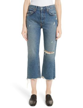 Linda Ripped Rigid High Waist Pop Crop Jeans by Grlfrnd