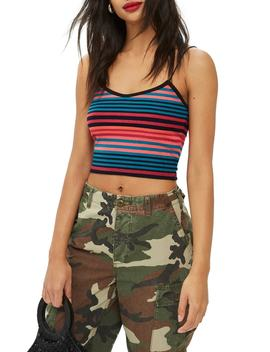 Fluro Stripe Crop Camisole by Topshop