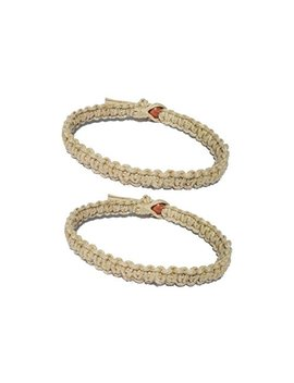 Two Natural Hemp Surfer Hawaiian Style Bracelet Anklet   Handmade  ( A Set Of 2) … by Luos Cultural Goods