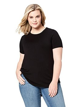 Daily Ritual Women's Plus Size Supersoft Terry Short Sleeve Shirt With Shirttail Hem, by Daily+Ritual