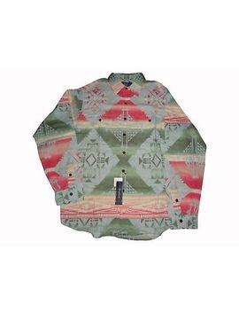 Ralph Lauren Southwestern Aztec Shirt Xl Nwt Rare Vintage Stadium Bear by Ralph Lauren