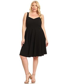Womens Plus Size Short Sleeve Summer Fit Flare Dresses   Made In Usa by Simlu