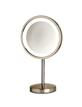 Jerdon® Tabletop Led Lighted Vanity Mirror In Nickel by Bed Bath And Beyond