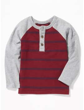 Raglan Henley For Toddler Boys by Old Navy