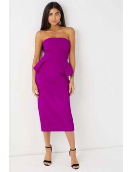 Lipsy Bandeau Peplum Midi Dress by Next