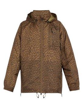 Leopard Print Down Jacket by Needles