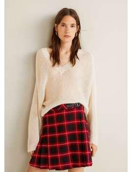 Check Miniskirt by Mango