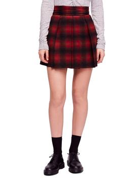 High Waist Plaid Miniskirt by Free People