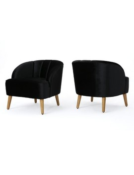 Set Of 2 Amaia Modern New Velvet Club Chair   Christopher Knight Home by Christopher Knight Home