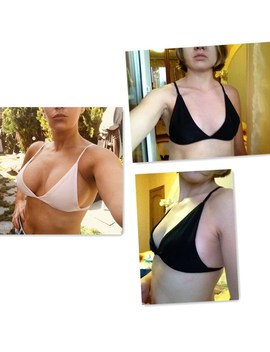 2018 Women Sexy Bikini Tops Bra 3/4 Wire Free Adjusted Straps Summer Beachwear Solid Color Bathing Bras Plus Size S  Xl 7 F0023 by Faroonee