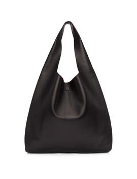 Black Classic Leather Tote by Maison Margiela