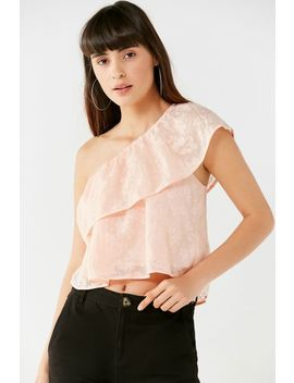 Uo Ashley One Shoulder Floral Top by Urban Outfitters