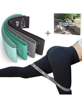 Mvn Resistance Bands Set Exercises Guide Printed On Loop Bands To Tone Legs Butt Core And Arms Pilates Yoga Fitness Physical Therapy Rehabilitation by Mvn
