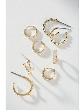 Classic Hoop Earring Set by Anthropologie