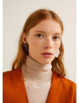 Asymmetric Resin Earrings by Mango