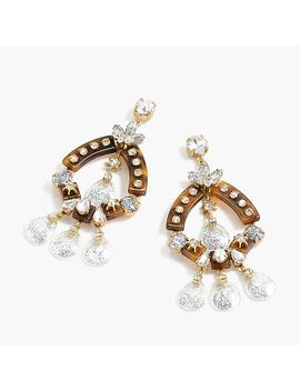 Crystal And Tortoise Earrings by J.Crew