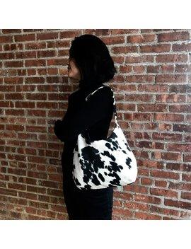 Cowhide Bag Shoulder Bag, Black Cowhide,Brown Cowhide Hobo Bag, Faux Fur,  Cow Print Bag Gift For Her, Animal Print Bag, Cowhide Handbags by Etsy