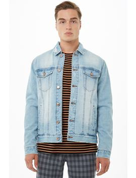 Plush Lined Denim Jacket by Forever 21