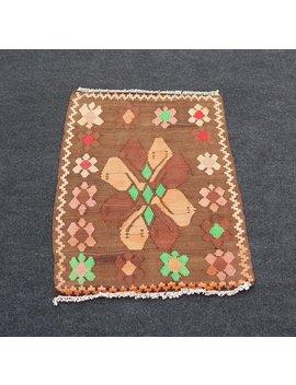 Turkish Kilim Rug,Vintage Kilim Rug,Anatolian Handwoven Kilim Rug,Vintage Rug,Area Rug,Floor Rug No:1066 by Etsy