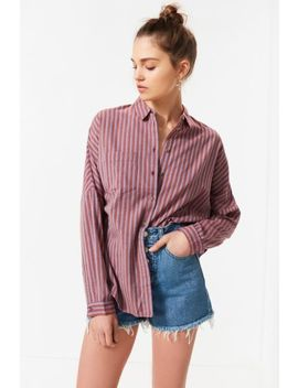 Uo Relaxed Fit Plaid Button Down Shirt by Urban Outfitters
