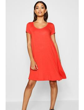 Keyhole Back Jersey Swing Dress by Boohoo