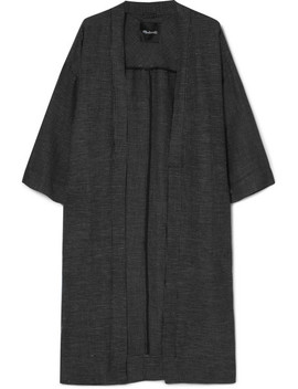 Checked Linen Blend Kimono by Madewell