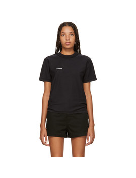 Black Fitted Inside Out T Shirt by Vetements