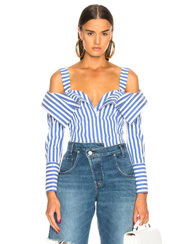 Flap Front Stripe Top by Monse