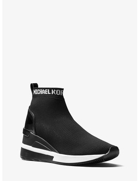 Skyler Logo Knit High Top Trainer by Michael Michael Kors