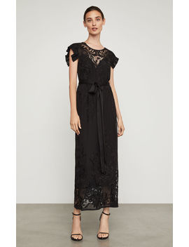 Embroidered Chiffon Midi Dress by Bcbgmaxazria