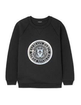 Printed Neoprene Sweatshirt by Balmain