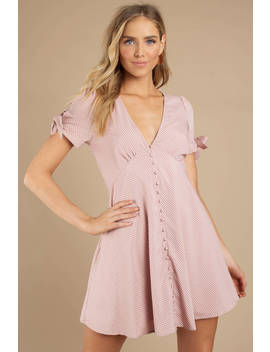 Sue Pink Polka Dot Print Dress by Tobi