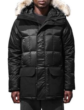 Black Label Callaghan Fur Trim Down Parka by Canada Goose