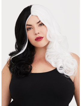 Leg Avenue Halloween Two Tone Long Wavy Villain Wig by Torrid
